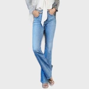 EXPRESS GREAT COND STRETCH LONG FLARE BLUE JEANS